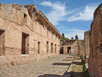 ruiny, miasto, portowe, turystyka, lacjum, ostia, antica
