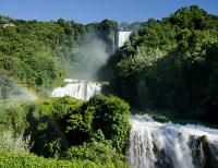 Wodospady, wodospad, Cascata, delle, Marmorenarni, umbria